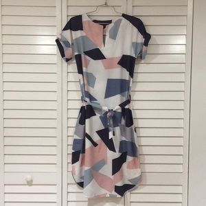 Dresses & Skirts - Printed S/S Polyester Dress sz Med